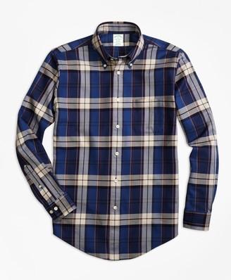 Brooks Brothers Non-Iron Milano Fit Bold Plaid Sport Shirt
