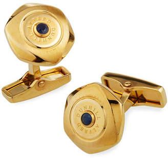 Dunhill Soft Hex Sapphire Cufflinks, Golden