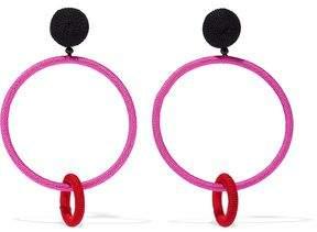 Oscar de la Renta Gold-Tone Cord Clip Earrings