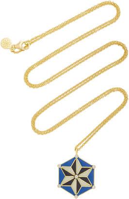 Amrapali 18K Gold and Enamel Star Necklace
