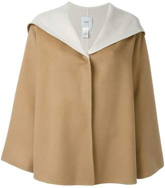 Agnona cashmere hooded cape