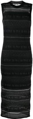 McQ patterned knit midi dress