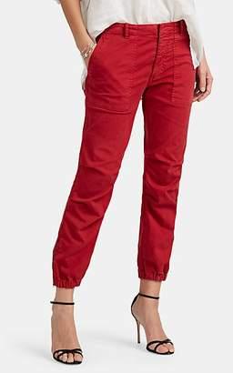 "Nili Lotan Women's ""French Military"" Cotton Crop Pants - Red"