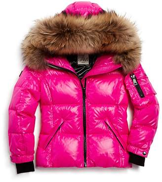 378b01f8871 Girls  Fur-Trimmed Down Jacket - Little Kid