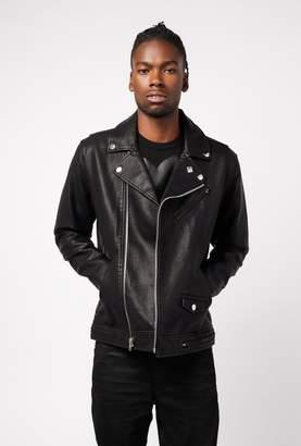 Obey Bastard Pu Leather Jacket