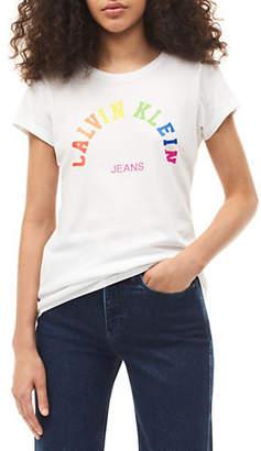 Calvin Klein Jeans Rainbow Cotton Tee