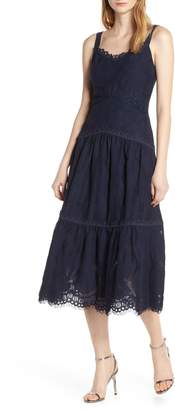 Foxiedox Prema Sleeveless Lace Midi Dress