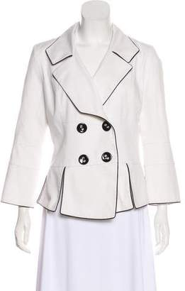 Anne Fontaine Double-Breasted Peplum Jacket