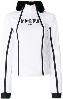 Fendi zipped fitted jacket