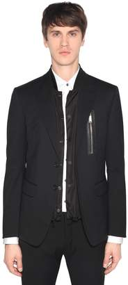 DSQUARED2 Stretch Virgin Wool Jacket W/ Nylon Vest
