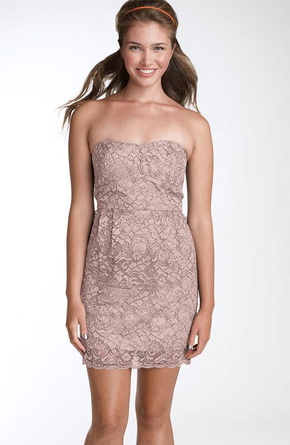 As U Wish Lace Tube Dress (Juniors)