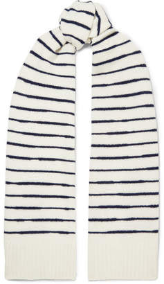 Rag & Bone Striped Wool Scarf - Ivory