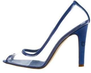 Stella McCartney Peep-Toe PVC Pumps
