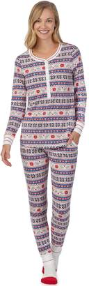 Cuddl Duds Women's Dreamer Henley 3-piece Top & Jogger Pajama Set