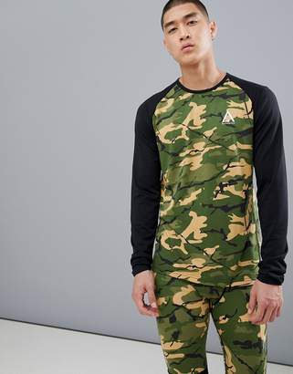 Wear Colour Wear Color Guard Base Layer Long Sleeve Top in Camo