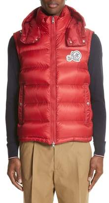Moncler Gilet Double Logo Hooded Vest
