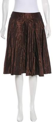 Carmen Marc Valvo Knee-Length Taffeta Skirt