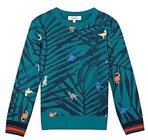 Catimini Little Boy's Palm-Print Crewneck Sweatshirt