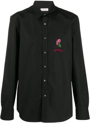 Alexander McQueen embroidered detail shirt