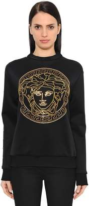 Versace Crystal Medusa Neoprene Sweatshirt