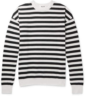 Aloye Oversized Striped Cotton Sweater