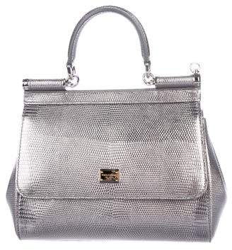 Dolce & Gabbana Embossed Leather Miss Sicily Bag