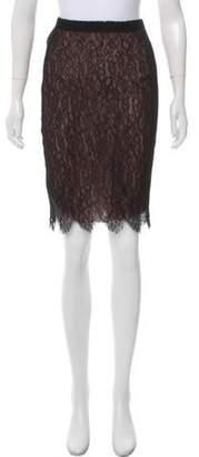 Lanvin Lace Knee-Length Skirt Black Lace Knee-Length Skirt