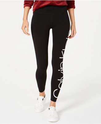 Calvin Klein Jumbo-Logo High-Rise Leggings