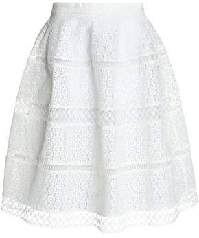 Zimmermann Paneled Lace And Broderie Anglaise Cotton Skirt