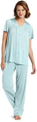 Exquisite Form Women's Coloratura Sleepwear Short Sleeve Pajama Set