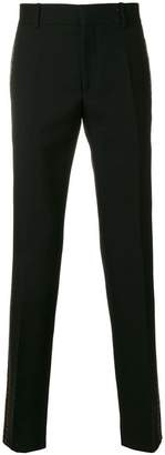 Alexander McQueen side pattern trousers