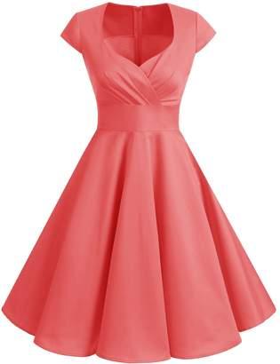 Bbonlinedress 1950s Summer Vintage Sweetheart Classy Rockabilly Cocktail Swing Dress M