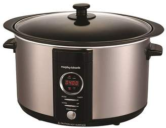 Morphy Richards 461003 6.5L Slow Cooker - Brushed Stainless Steel