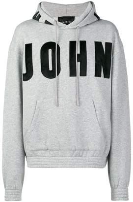 John Richmond logo hooded sweatshirt