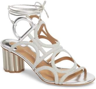 Salvatore Ferragamo Vinci Lace-Up Block Heel Sandal