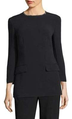 Escada Swarovski Crystal-Trim Tunic