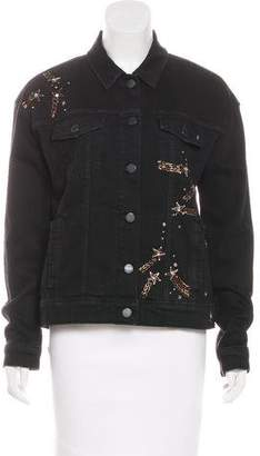 Paige Rosie HW x Embellished Denim Jacket w/ Tags