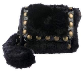 Sonia Rykiel Faux Fur Shoulder Bag