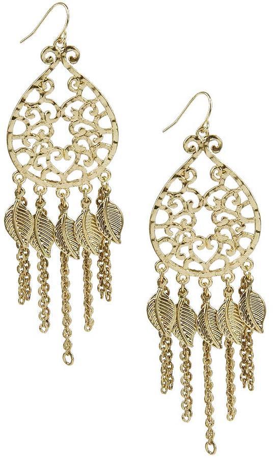 Filigree Chain Earrings