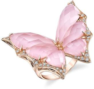 Stephen Webster Rose Gold and Diamond Fly By Night Crystal Haze Ring