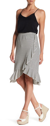 Bobeau Striped Ruffle Skirt $42 thestylecure.com