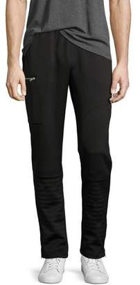 Ovadia & Sons Zip-Pocket Moto Pants, Black