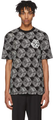 McQ Black and White All Over Cube T-Shirt