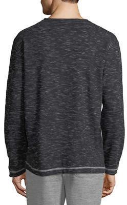 Majestic International Men's Static Static Thermal Henley Long-Sleeve Shirt