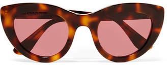 Ganni Mia Tortoiseshell Cat-eye Acetate Sunglasses