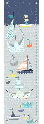 Oopsy Daisy Fine Art For Kids Paper Boat by Mara Penny Canvas Growth Chart