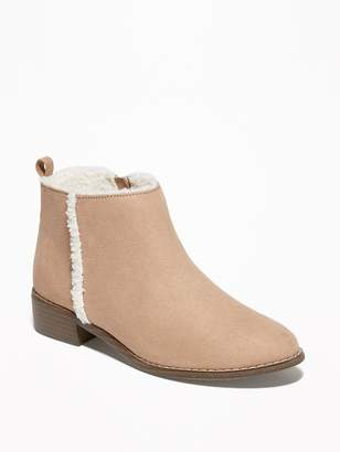 Old Navy Faux-Suede Sherpa-Lined Boots for Girls
