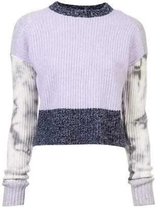 Zoe Jordan contrast cropped knitted sweater