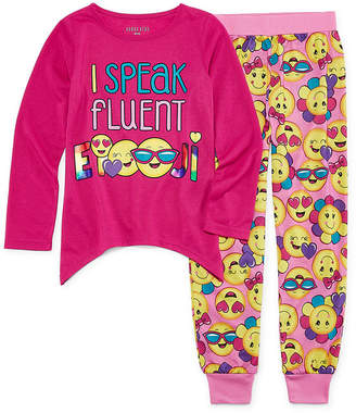 Asstd National Brand I Speak Fluent 2pc Pant Pajama Set Girls