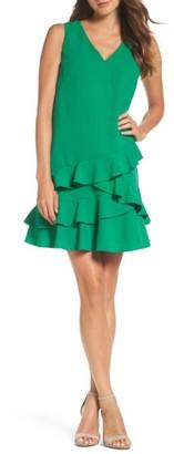Women's Eliza J Ruffle Hem Shift Dress $138 thestylecure.com